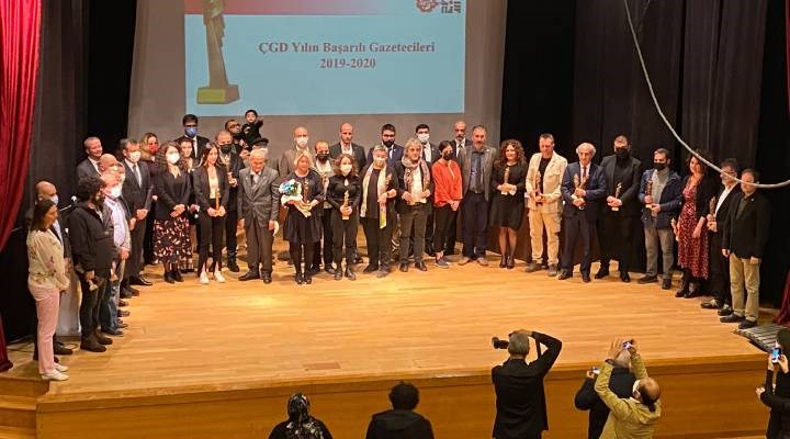 ÇGD yılın başarılı gazetecileri ödülleri sahiplerini buldu