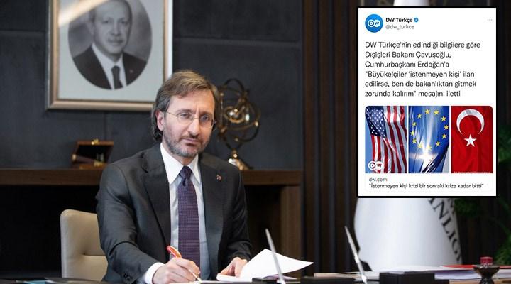 Fahrettin Altun, DW Türkçe'yi hedef aldı: Türkiye-Almanya ilişkilerini zehirliyorsunuz