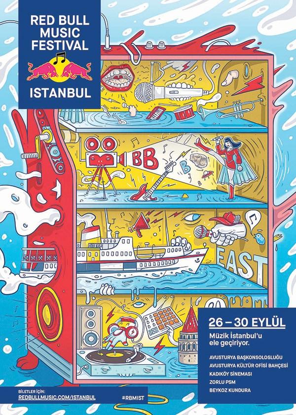 Festival afişini son zamanlarda beğendiğim her işte imzasını gördüğüm Burak Şentürk çizdi.