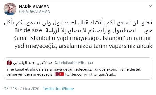 ibb-sozcusu-nun-arapca-kanal-istanbul-tweetine-katar-dan-yanit-671901-1.