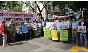 Termik santral istemeyen Merzifonlular, bakanlık önünde eylem yaptı