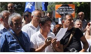 Çevre ve Şehircilik Bakanlığı önünde Hopa protestosu