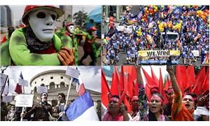 Fotoğraflarla: Dünyada 1 Mayıs nasıl kutlandı?