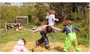 Çocuklar betondan kentlerde  oyun oynayamıyor
