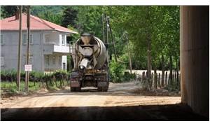 Köylülerin hafriyat kamyonu tepkisi