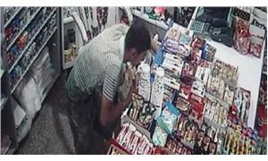 Markete giren hırsız 'Avuç' dolusu parayı 1 dakikada çaldı