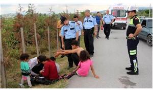 Çocuk sürücü polise zor anlar yaşattı