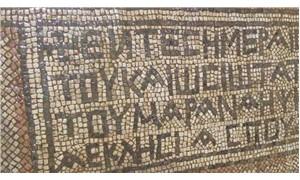Tarlasında 5. yüzyıldan kalma mozaik buldu