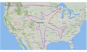 Radarı 'tuval' gibi kullanan pilot, havada yolcu uçağı çizdi