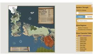 Game of Thrones evrenini haritadan gezin
