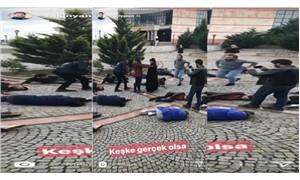 DHA muhabiri katliam canlandırmasına 'gerçek olsa' dedi