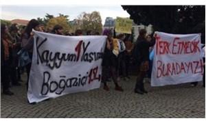 Boğaziçi öğrencilerinden  Kayyum protestosu