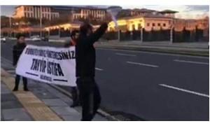 Saray önündeki 'belge' protestosuna polis müdahalesi: 5 gözaltı