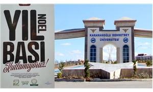 Üniversitede 'Müslüman yılbaşı kutlamaz' afişleri