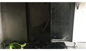 Öğrenci evinde tüp patladı