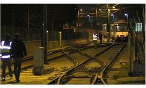 Topkapı-Habipler tramvayı raydan çıktı