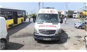 İETT otobüsüne hafriyat kamyonu çarptı! 6 yaralı