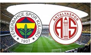 Fenerbahçe, Antalyaspor ile evinde karşılaşacak