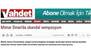 Vahdet hedef gösterdi, Mimar Sinan salonu iptal etti!
