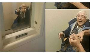 100 yaşındaki çılgın nine kendini tutuklattı!