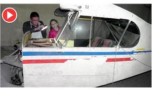 Binanın bodrum katındaki uçak şaşırttı