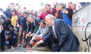 Workers who were killed in Taksim Square on Bloody May Day in 1977 commemorated