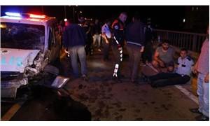 Polis aracı arkadan çarptı: 1 ölü, 5 yaralı