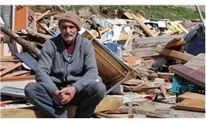 Yaylacıların hortumda yıkılan evlerinin yeniden yapılması yasaklandı