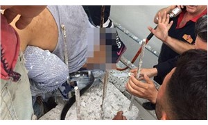 İnşaatta çalışan işçinin üzerine düştüğü demir vücuduna saplandı