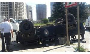 Özel Harekat polisleri kaza yaptı: Yaralı polisler var