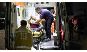 Boynuna saplı bıçakla hastaneye kaldırıldı
