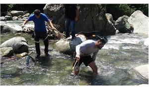 Derede kaybolan Nehir için 400 kişi yardıma koştu