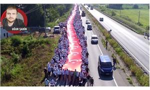Binler kararlılıkla yürüyor