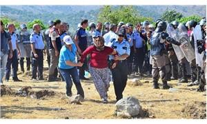 'Ağaçlar sökülmesin' diye nöbet tutan köylüler gözaltına alındı