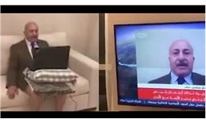 Ürdünlü siyasi analist Majid Asfour yayına pantolonsuz çıktı