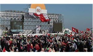 A rally held in İstanbul with the call of Islamist Felicity Party over Al-Aqsa crisis