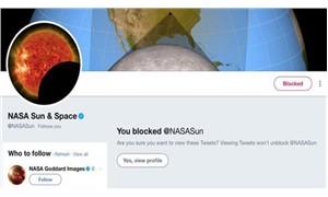 NASA Moon, NASA Sun hesabını engelledi