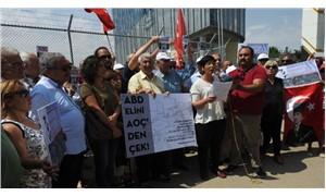 ABD Büyükelçiliği inşaatı önünde protesto