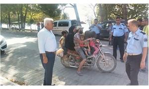 Polis 6 kişilik ailenin bindiği motosiklete el koydu