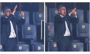 Fenerbahçeli yöneticiden tribünde skandal hareket