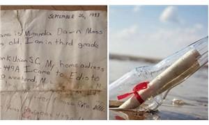 29 yıl önce denize bırakılan not karaya vurdu