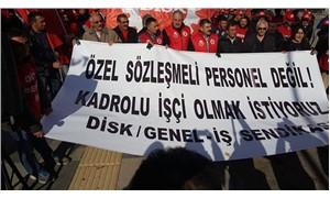 Taşeron işçilerinden Bakanlık önünde eylem: ÖSP değil, kadrolu işçi olmak istiyoruz!