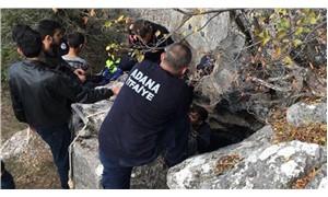 Mağarada mahsur kalan 2 kişi kurtarıldı