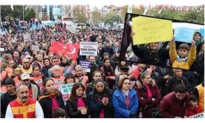 Kömürlü termik santrala karşı binlerce kişilik protesto: Sessiz ölüme dur de