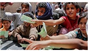 Yemenli çocuklar, Birleşmiş Milletler binası önünde iç savaşı protesto etti