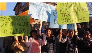 Taşocağına hayır protestosu toplantıyı iptal ettirdi
