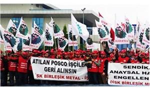 Posco Assan işçileri yeniden eylemde
