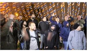 Kadroya alınmayan taşeron işçiler, AKP teşkilatı önünde eylem yaptı