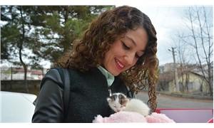 Nurgül öğretmen, öğrencilerinin bulduğu kediyi sahiplendi