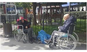 İBB, yaşlı ve kimsesiz vatandaşları hastane bahçesine bıraktı